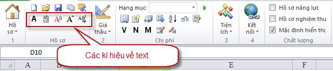 Hình 9.1 – Các ký hiệu về text