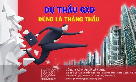 Mục lục hướng dẫn sử dụng phần mềm Dự thầu GXD