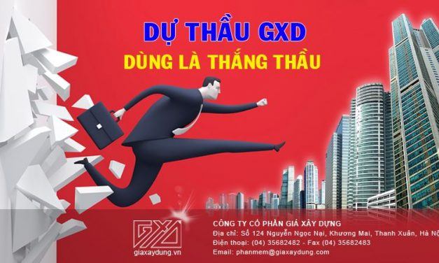 Tìm hiểu thanh công cụ và menu của phần mềm Dự thầu GXD