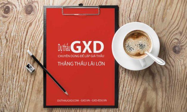 Giới thiệu phần mềm Dự thầu GXD
