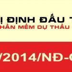 Mục lục Nghị định số 63/2014/NĐ-CP Quy định chi tiết thi hành một số điều của Luật đấu thầu về lựa chọn nhà thầu