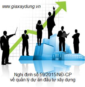 Nghị định số 59/2015/NĐ-CP ngày /6/2015 của Chính phủ về quản lý đầu tư xây dựng công trình