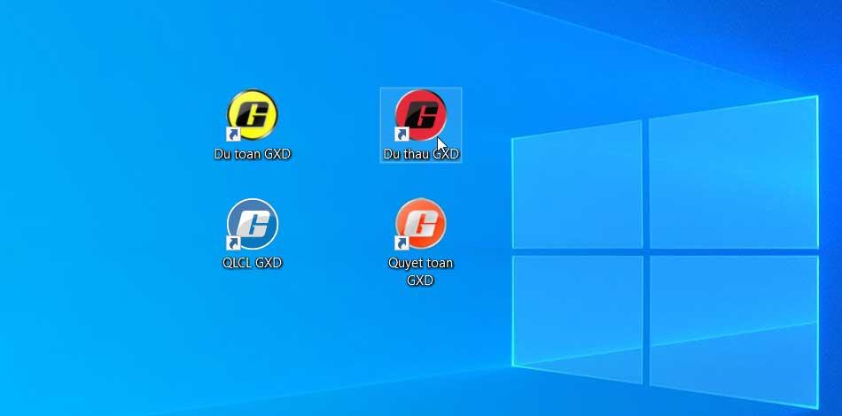 Khởi động phần mềm Dự thầu GXD