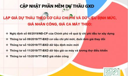 Cập nhật Dự thầu GXD theo Nghị định số 68 và các Thông tư hướng dẫn